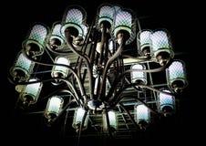 Черная люстра с стальной структурой стоковое фото rf