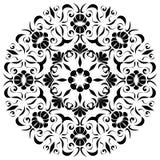 Черная мандала Стоковая Фотография