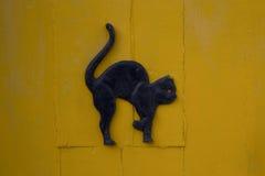 Черная мебель двери кота металла Стоковое Изображение
