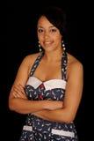 черная милая женщина стоковая фотография rf