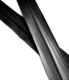 Черная молния изолированная на белой предпосылке Стоковые Изображения RF