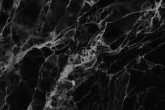 Черная мраморная текстура, детальная структура мрамора в естественном сделанном по образцу для предпосылки и дизайн Стоковая Фотография