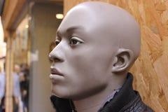 Черная мужская голова манекена Стоковые Фото
