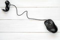 черная мышь компьютера Стоковое Изображение