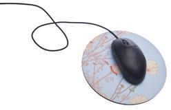 черная мышь компьютера Стоковые Фото