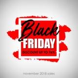Черная надпись продажи пятницы Черный шаблон дизайна знамени пятницы также вектор иллюстрации притяжки corel иллюстрация штока