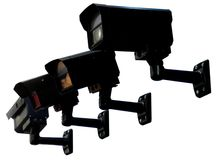 черная обеспеченность монитора Стоковое Изображение