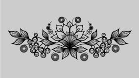 Черная орнаментальная картина иллюстрация вектора