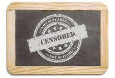 Черная доска при наслоенное цензированное сообщение мела Стоковые Фотографии RF