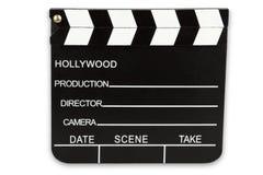 Черная доска сзажимом для бумаги кино Стоковые Изображения RF