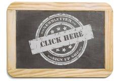 Черная доска с наслоенным сообщением мела Стоковые Фотографии RF