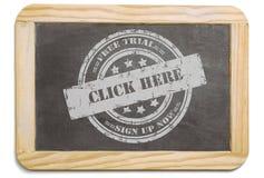 Черная доска с наслоенным сообщением мела Стоковые Изображения