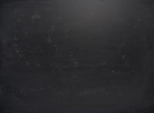 Черная доска с трассировками мела Стоковые Изображения RF