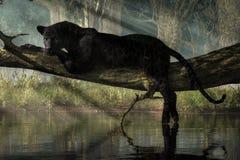 Черная пантера на журнале бесплатная иллюстрация