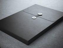 Черная папка с бумажной текстурой стоковое фото rf