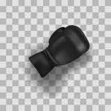Черная перчатка бокса иллюстрация вектора