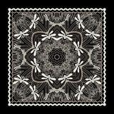 Черная печать bandana бесплатная иллюстрация