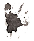 Черная помарка на белой предпосылке Стоковая Фотография
