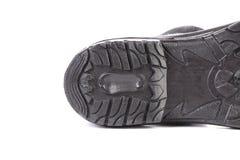 Черная подошва ботинка Стоковое Изображение RF