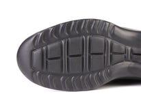 Черная подошва ботинка Стоковая Фотография