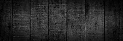 Черная предпосылка деревянных доск Стоковое Изображение