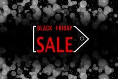 Черная предпосылка продажи пятницы Стоковые Изображения