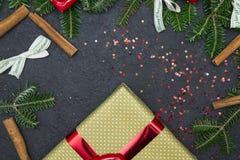 Черная предпосылка рождества или Нового Года Стоковое Изображение RF