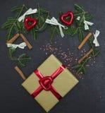 Черная предпосылка рождества или Нового Года Стоковые Фото
