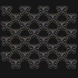 Черная предпосылка с белыми грациозно бабочками бесплатная иллюстрация
