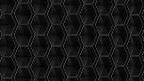 Черная предпосылка шестиугольника иллюстрация 3d бесплатная иллюстрация