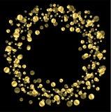 Черная предпосылка с блесточками золота Стоковое Фото