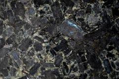 Черная предпосылка камня гранита Стоковое Фото