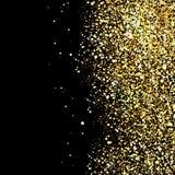 черная предпосылка с искрой яркого блеска золота Стоковые Изображения RF