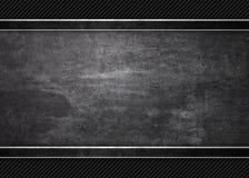 Черная предпосылка текстуры текстуры металла grunge Стоковые Изображения