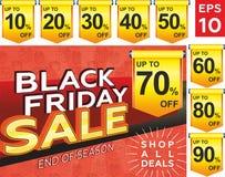 Черная продажа пятницы Дизайн плана знамени, дизайн плаката, ценник бесплатная иллюстрация