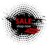 Черная продажа 30% пятницы Дизайн шаблона знамени продажи лета также вектор иллюстрации притяжки corel иллюстрация штока