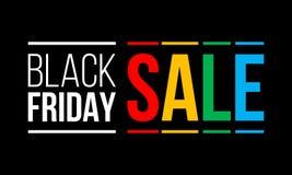 Черная продажа пятницы, плакат promo стоковая фотография rf