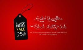 Черная продажа пятницы супер на простом и роскошном знамени иллюстрации шаблона бирки иллюстрация вектора