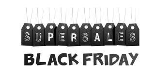 Черная продажа пятницы супер Стоковые Фотографии RF