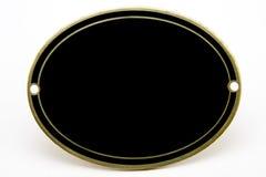 черная пустая металлическая пластинка золота Стоковое фото RF