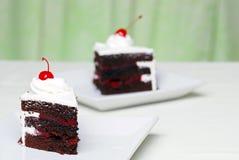 черная пуща 2 шоколада вишен торта Стоковое фото RF