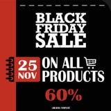 Черная пятница, большая продажа, творческий шаблон на плоском дизайне иллюстрация вектора