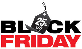 Черная пятница двадцать пять процентов с продажи Стоковое Фото
