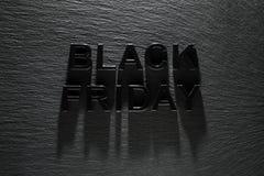 Черная пятница на темной предпосылке стоковое фото rf
