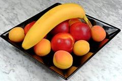 черная плита плодоовощ Стоковое Фото