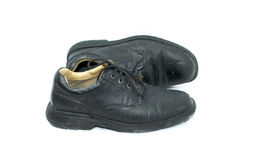 черная работа ботинок Стоковое фото RF