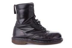 черная работа кожи ботинка стоковое изображение rf