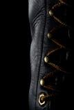 черная работа кожи ботинка Стоковое Изображение