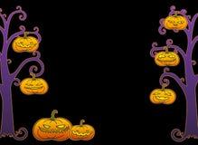 Черная рамка дерева хеллоуина Стоковые Изображения RF