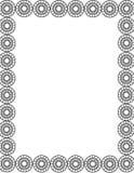 черная рамка круга Иллюстрация вектора